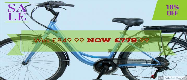 Falcon Serene 26″ Ladies hybrid Electric Bike